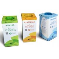 Atliekų rūšiavimo dėžių komplektas (3 vnt.)